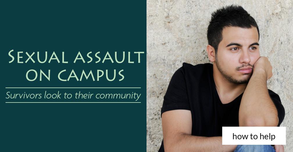 Sexualt assault on campus: Survivors look to their community