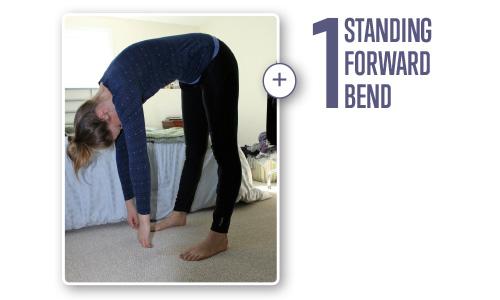 Forward fold pose